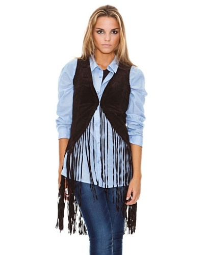 Maze Vest With Frings Mujer
