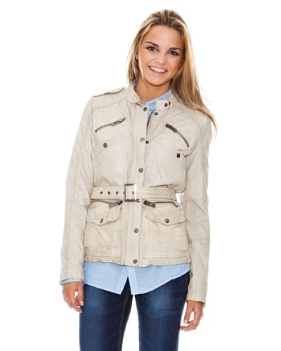 Maze Jacket With Stand Up Collar And Belt Mujer