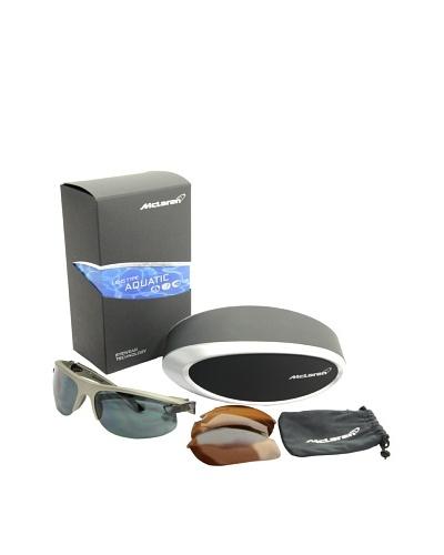 Mclaren Gafas de Sol MPS-004-CA-2171-AQUA Plata / Negro
