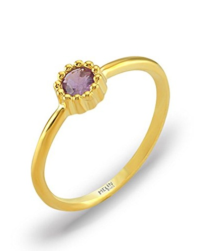 Melin Paris Anillo Amatista Africana