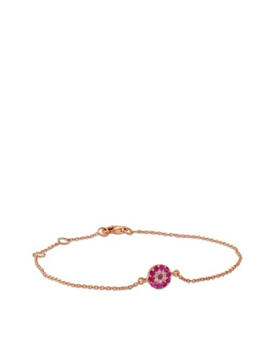 Pulsera Diamond Ruby Evil Eye