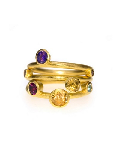 Melin Paris Anillo Citrine y Topacio Azul