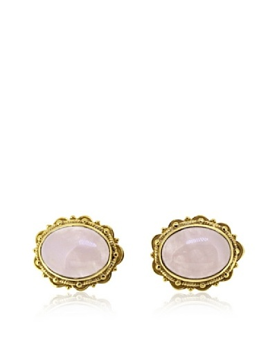 Melin Paris Pendientes de Cuarzo Rosa