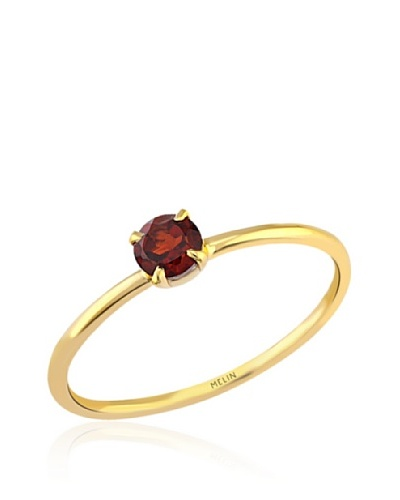 Melin Paris Anillo Granate Dorado
