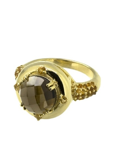 Anillo Citrine and Smoky Quartz