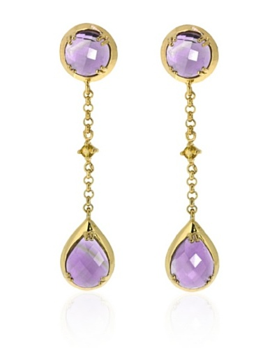 Melin Paris Pendientes African Amethyst and Citrine