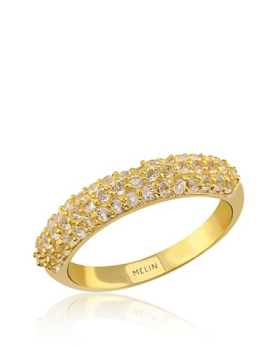 Melin Paris Anillo Topacio Blanco Dorado