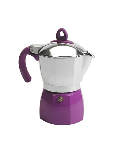 Miakasa Cafetera para 3 Tazas Pedrita Violeta