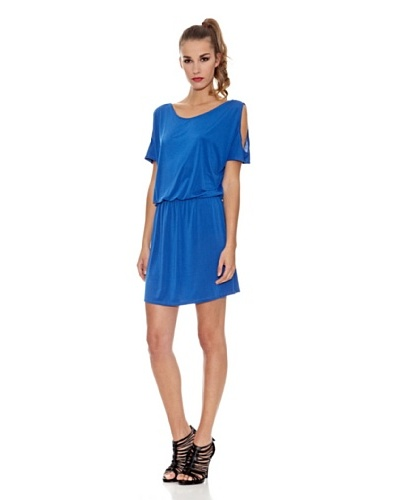 Milles Barcelona Vestido Aberturas Azul