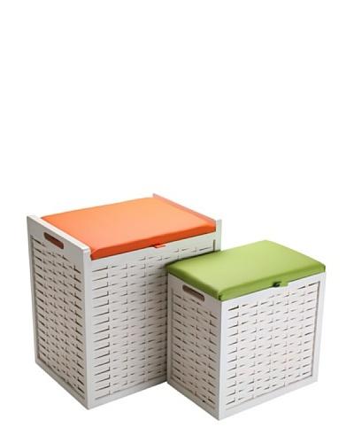 Mimma Set De 2 Cestas Verde/Naranja
