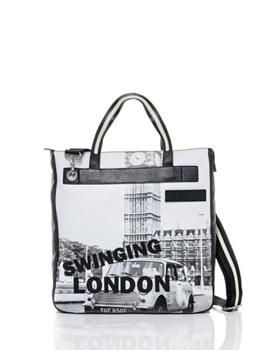 Mini Bolso Shout Blanco/Negro