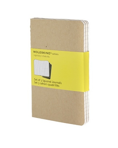 Moleskine Cuaderno 3 Kraft Hojas Cuadriculadas