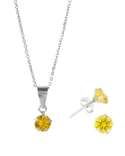 Musa Ventura Conjunto Circonita 6 mm Golden Yellow