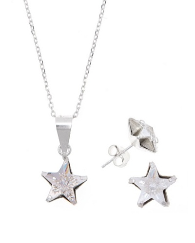MUSAVENTURA Conjunto Estrella Plata Crystal