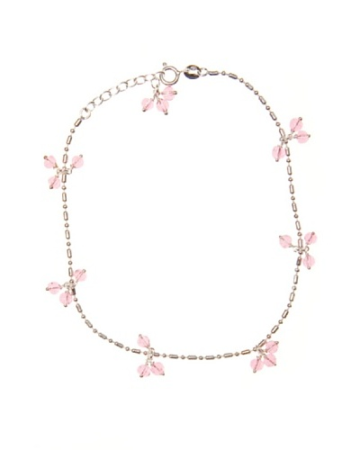 My Silver Tobillera Rosa de Francia