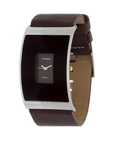 My Silver Reloj Reloj Cuero Chocolate