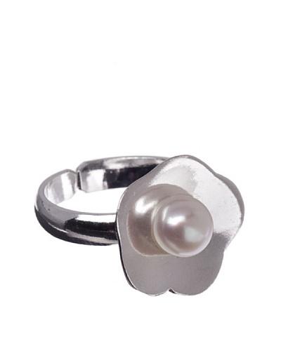 My Silver Sortija Perla Style