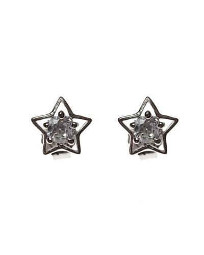 My Silver Pendientes Estrella Circonita