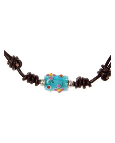 My Silver Collar Abalorios Murano Turquesa