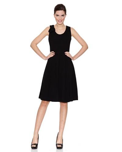 Naf Naf Vestido Lazo Hombro Negro
