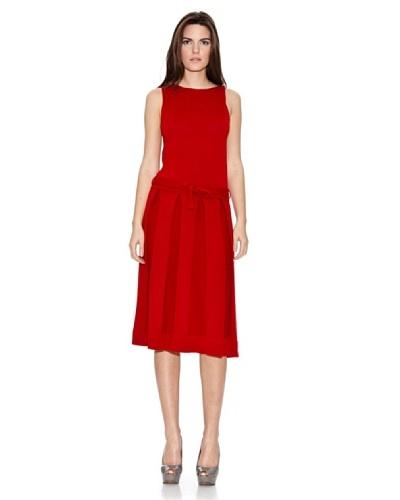 Naf Naf Vestido Tablas Rojo
