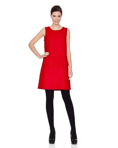 Naf Naf Vestido Irene Rojo Cereza