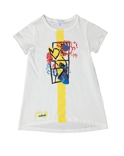 Naf Naf Enfant Camiseta Couleur Cafe
