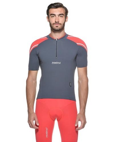 Nalini Camiseta Neja Gris/Rojo