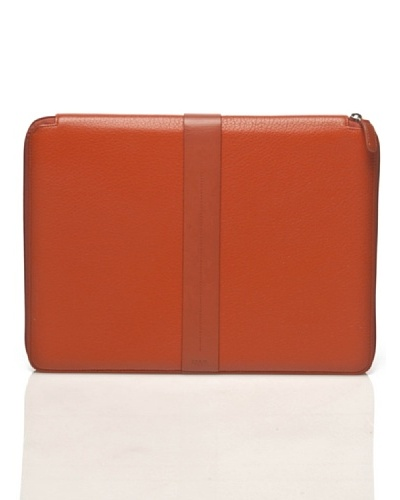 Nava Design Portafolios Cremallera Piel Naranja