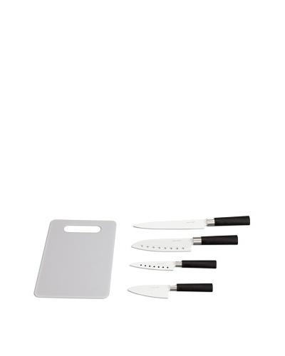 Newchef Set de 4 Cuchillos Revestimiento Cerámico + Tabla