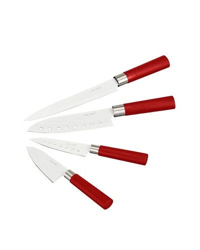 Newlux Set 4 Cuchillos Cerámicos Rojos