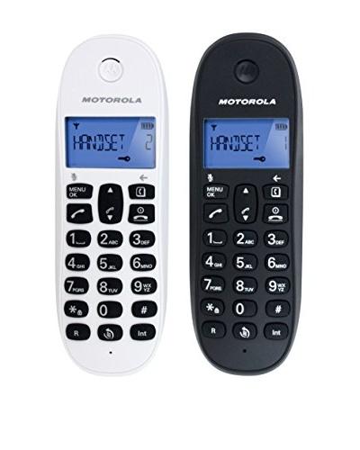 Motorola Teléfonos Dúo Blanco/Negro Twin