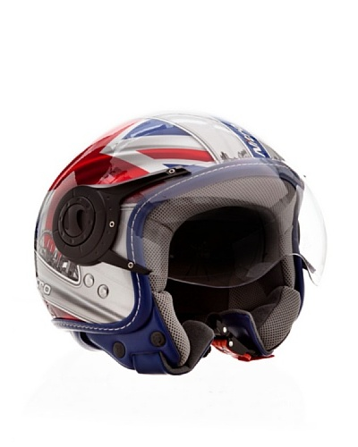 Nitro Casco X548 London Rojo / Blanco / Azul