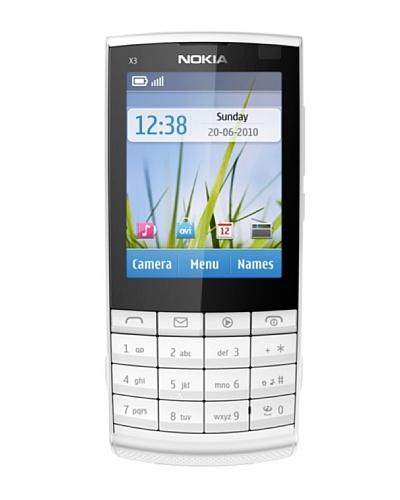 Nokia X3/02 Silver Touch and Type – Móvil libre (pantalla de 2,4″ 240 x 320, cámara 5 MP, 50 MB de capacidad, teclado español QWERTY)