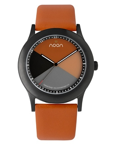 NOON Copenhagen Reloj unisex piel Naranja / Negro