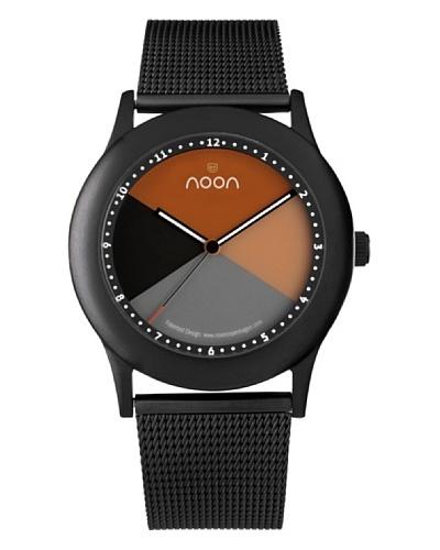 NOON Copenhagen Reloj unisex acero inoxidable Negro / Naranja