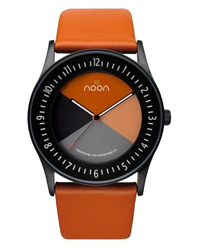 NOON Copenhagen Reloj unisex piel Negro / Naranja