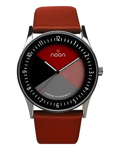 NOON Copenhagen Reloj unisex piel Negro / Rojo