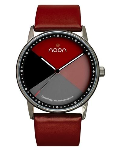 Noon Copenhagen Reloj 44-004L3 Negro / Rojo