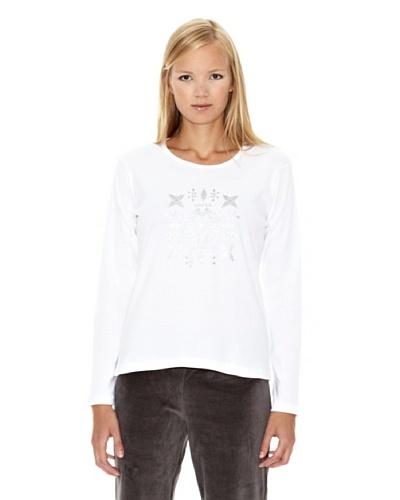 North Company Camiseta Print Plata