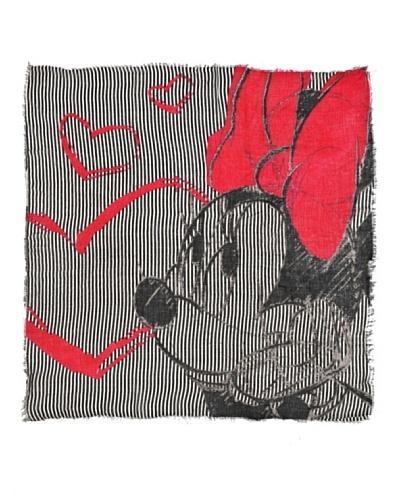 North Star Foulard Minnie Negro / Rojo