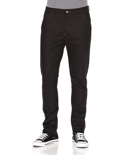 Nudie Jeans Pantalón Khaki Slim Negro