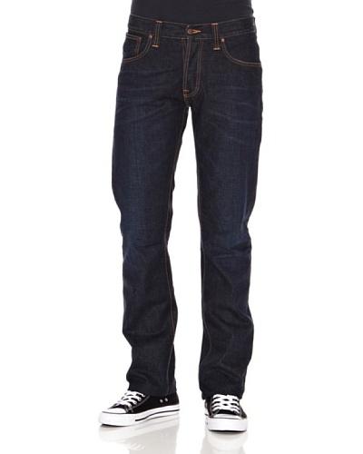 Nudie Jeans Pantalón Average Joe Azul noche