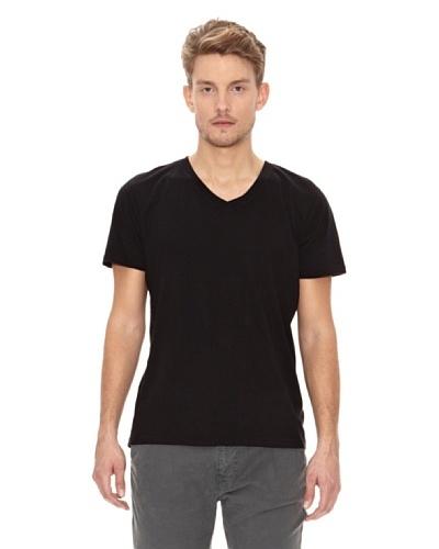 Nudie Jeans Camiseta Cuello Pico Negro