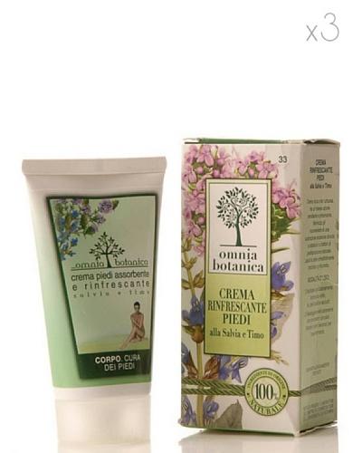 Omnia Botanica Set 3 Crema de Pies Refrescante de Salvia y Tomillo