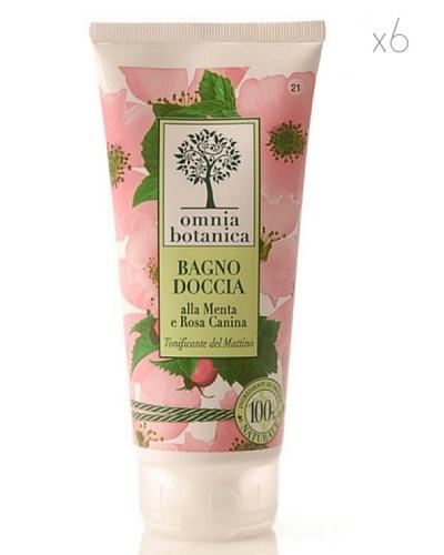 Omnia Botanica Set 6 Gel de Ducha Energizante de Menta y Rosas Silvestres