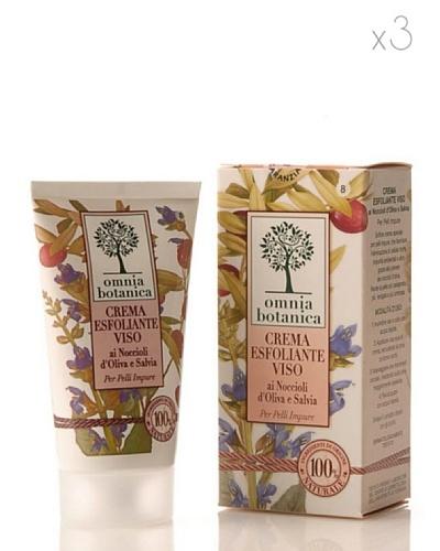 Omnia Botanica Set 3 Crema Facial Exfoliante de Aceite de Oliva y Salvia