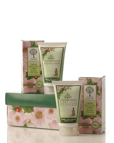 Omnia Botanica Caja de Regalo Tratamiento Corporal Natural de Menta y Rosas Silvestres