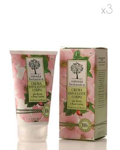 Omnia Botanica Set 3 Crema Corporal Exfoliante de Menta y Rosas Silvestres