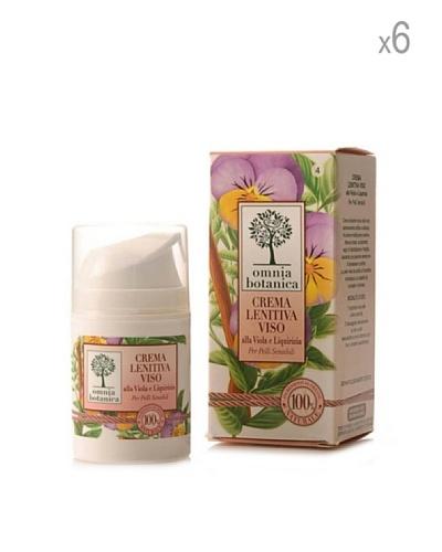 Omnia Botanica Set 6 Piezas De Crema Facial Calmante De Violeta Y Regaliz 50 Ml Ud.